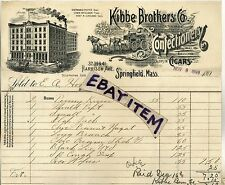 189 BILLHEAD Springfield Massachusetts KIBBE BROTHERS COMPANY Confections CANDY