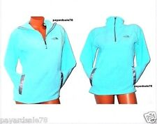 WOMEN'S THE NORTH FACE FLEECE PULLOVER JACKET MINT BLUE SIZE MEDIUM