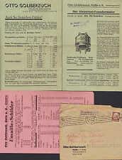 HALLE/SAALE, Prospekt 1939, Otto Goliberzuch Elektro-Technik Dreh-Strom-Zähler