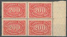 Deutsches Reich Infla MiNR 220 PLF I im Viererblock postfrisch **
