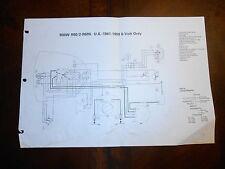 BMW OEM R50/2 R695 US 1961-1969 6 Volt Only Dealer Wiring Diagram