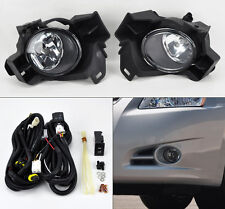 Front Bumper Fog Lights Kit w/ Wiring Switch Pair Fits Nissan Altima 10-12 4dr