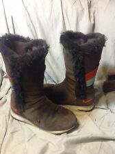 Nike Winter Faux Fur Lined Brown Snow Women's Boots Suede 311959-281, Size 8