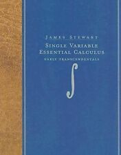 Single Variable Essential Calculus : Early Transcendentals by James Stewart...