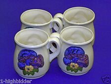 4- Retro Magic Mushroom 1970 1976 Gare Inc Ceramic Kitch Mid Century Coffee Mugs