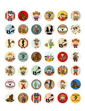 Cowboy~ Cowgirl~ Wild West~ Rodeo ~Western Themed Printable Bottle Cap Images