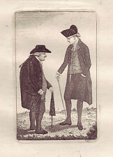 John Kay Original Antique Etching. Provost David Steuart and Bailie John.., 1784