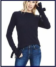 NEW BANANA REPUBLIC PREPPY NAVY BOW CUFF SWEATER M