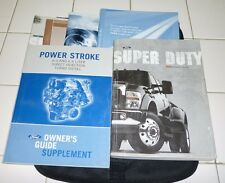 2009 FORD F SUPER DUTY OWNERS MANUAL SET 09 F250 F350 w/case + DIESEL GUIDE