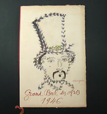 DOCUMENT GRAND BAL DES ARTS PARIS 1946 SPECTACLE TOUCHAGUES REY N°627 OLD COLIN