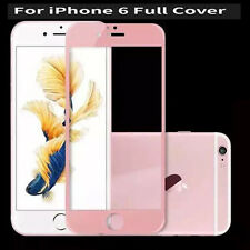 Carbon Fiber 3D Curved Screen Protector Tempered Glass For iPhone 6 6S Rose Gold