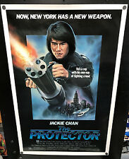 Original 1985 THE PROTECTOR One Sheet 27 x 41 Movie Poster with Jackie Chan