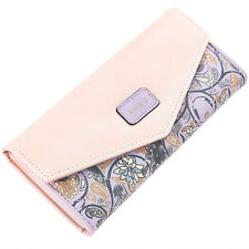 Women Lady Fashion Clutch Leather Long Handbag Card Holder Wallet Coin Purse Bag