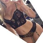 Sexy Women's Lingerie Lace Dress Underwear Black Babydoll Sleepwear + G-string