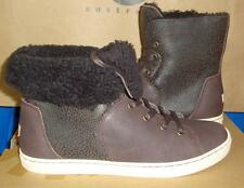 UGG CROFT Chocolate Bomber Sheepskin Ankle Boot Sneakers Size US 8.5 NIB 1009213