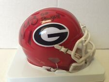 Aaron Murray Signed Georgia Bull Dogs Speed Mini Helmet Go Dawgs insc COA Hol