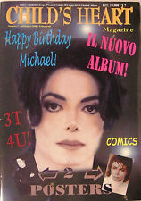 CHILD'S HEART   Italy magazine  MICHAEL JACKSON special with 2 posters mint