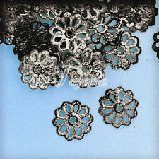 NEW 200-300Pcs Flowers Normal Filigree 1.5x8.5mm Beads Caps Craft Findings