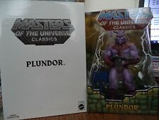 MASTERS OF THE UNIVERSE CLASSICS PLUNDOR W/ WHITE MAILER Y7735 *NEW*