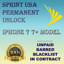 Official Premium Unlock Service IPhone 7 7+  Sprint USA All Imei