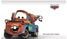 DISNEY CARS LIGHTNING MCQUEEN MATER EXTRA LARGE WALL STICKER NURSERY/KIDS ROOM
