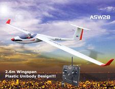 Volantex 2.6M ASW28 RTF RC Glider Plane Unibody Model W/ Brushless ESC Motor