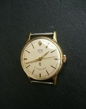 Vintage GUB Glashutte Q1 Cal 60.3 hand winding wristwatch Germany Gold Plated