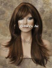HEAT SAFE HUMAN Blend wig Long  Straight  Brown Auburn Blonde MIX WBMS 27-4-30