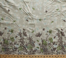 Butterflies Butterfly Flowers Cotton Border Fabric Print by the Yard 172.14