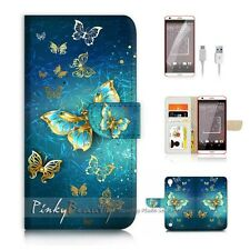 HTC Desire 530 Flip Wallet Case Cover P1774 Butterfly