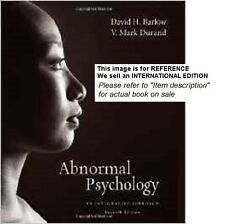 Abnormal Psychology: An Integrative Approach by V. Mark (Int' Ed Paperback)7ed