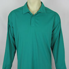 Mens Nike Golf DRI FIT shirt long sleeve athletic pullover – Green - Size L