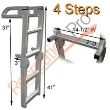 MARINE PONTOON BOAT 4 STEP FOLDING BOARDING ALUMINUM LADDER AL-C4