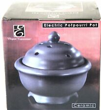 NEW Electric Simmering Pot Elegant Expressions Black Ceramic Potpourri Warmer