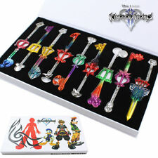 9pcs/set Kingdom Hearts Cosplay Key Keychain Pendant Necklace Collection in Box
