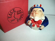 KEVIN FRANCIS FACE POTS RARE GOLD MARK Uncle Sam Box w/ Cert Made In UK