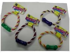 Dog Toy Rope Ring Tugger With Bone (Available in 4 asstd colours)