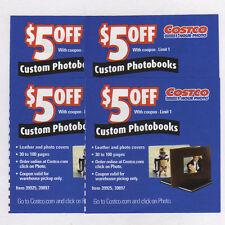6 COSTCO PHOTOBOOK PHOTO BOOK $5.00 OFF COUPONS - NO EXPIRATION DATE $30 VALUE