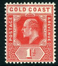 GOLD COAST-1907 1d Red Sg 60 MOUNTED MINT V12224