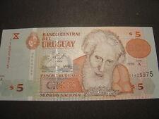 BILLETE DE URUGUAY. 5 PESOS. SIN CIRCULAR. UNC