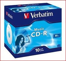 Verbatim Cd-r 700 Mb 16x velocidad 80min grabables Digital Audio Discos Joya Pack 10