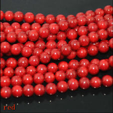 New 4mm Natural Red Coral Gemstone Loose Round Spacer Beads 15""
