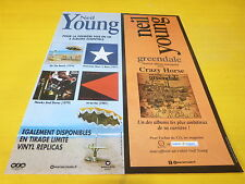 NEIL YOUNG - GREENDALE - DISCO!!!!1 FRENCH PRESS ADVERT