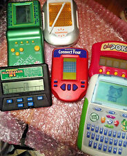 LOT 7 Handheld electronic Games sudoku 21 Leap Frog poker Connect 4 Brick tested