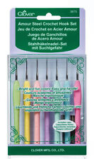 Clover Amour Steel Lace Crochet Hook Set - 7 Hooks  CL3675