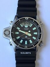 Vintage Citizen Aqualand Diver Promaster Watch with Depth Gauge 200M