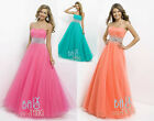 Elegant Long Prom Dresses Formal Party Bridesmaid Evening Dresses Ball Gown 6-16
