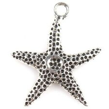 20pcs Newest Antique Silver Starfish Zinc Alloy Pendent Findings Crafts D