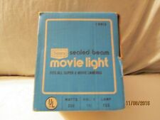 Vintage New Sears Sealed Beam Movie Light Fits All 8 Movie Cameras w/instruction