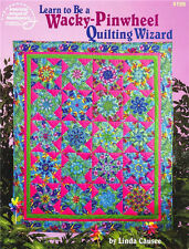 Learn to Be WACKY PINWHEEL QUILTING WIZARD Quilt Pattern Book ~ New